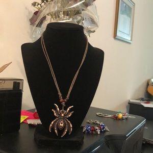 Jewelry - Tarantula 🕷 Boho Gothic Faux Leather Necklace🕷🎁